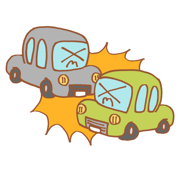 車同士の事故のイラスト