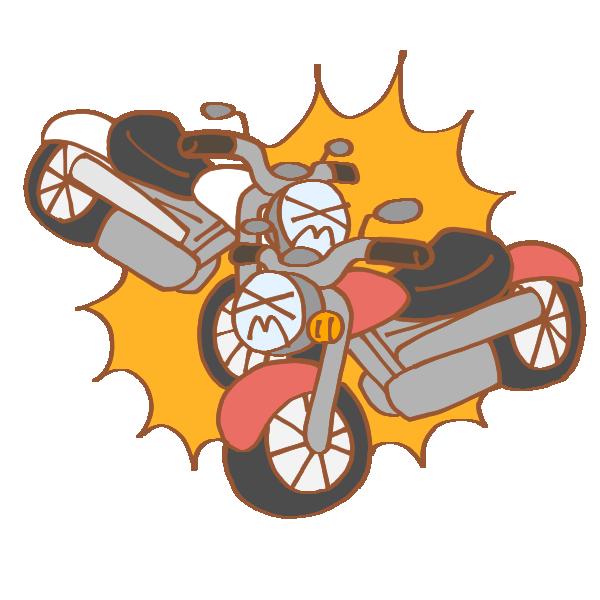 バイク同士の事故のイラスト