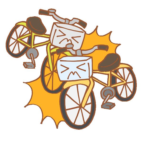 自転車同士の事故のイラスト