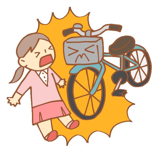 歩行者と自転車の事故のイラスト