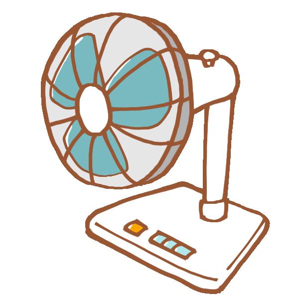 昔ながらの白い扇風機のイラスト