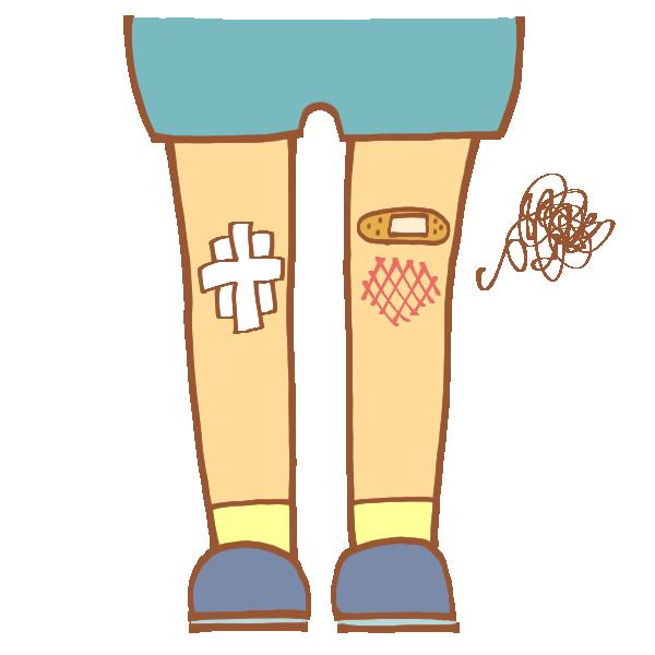 ひざの怪我のイラスト