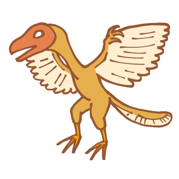 始祖鳥のイラスト