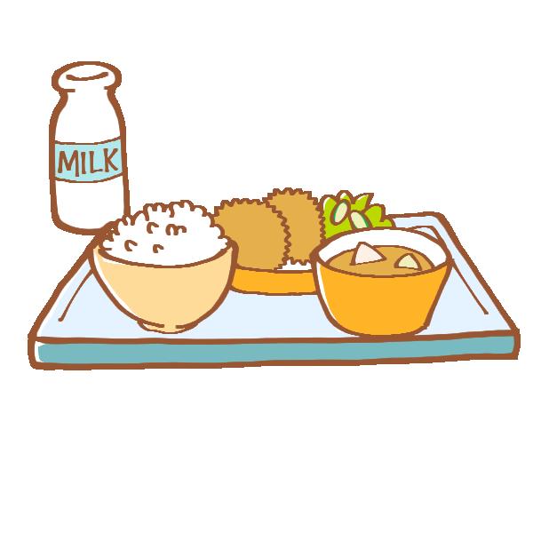 ごはんの給食のイラスト