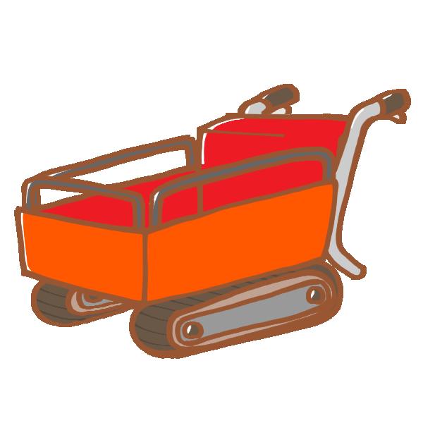 運搬機のイラスト