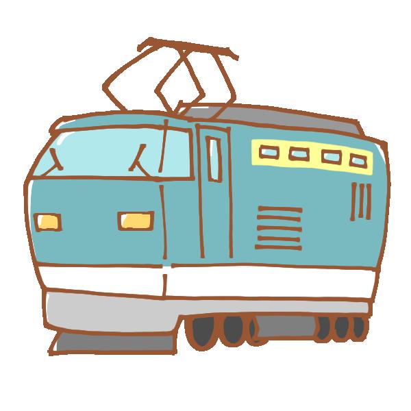 電気機関車のイラスト