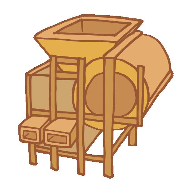脱穀機のイラスト