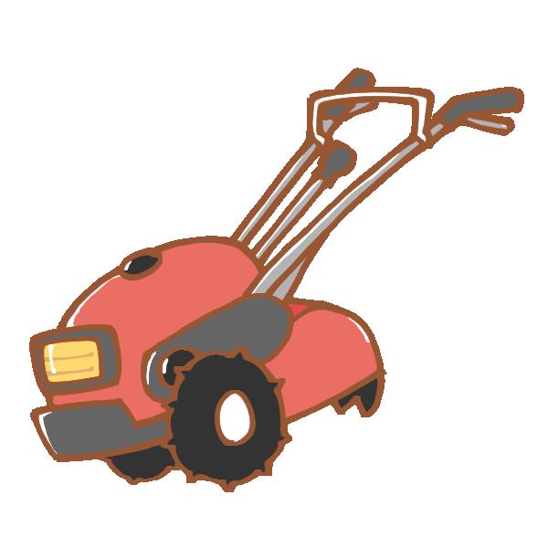 耕耘機のイラスト