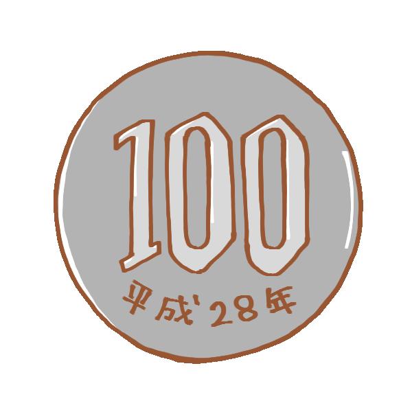 百円玉のイラスト