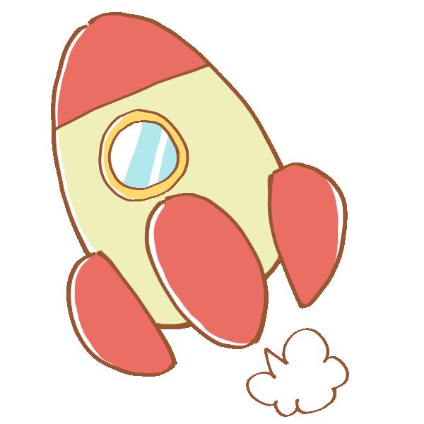 キュートなロケットのイラスト