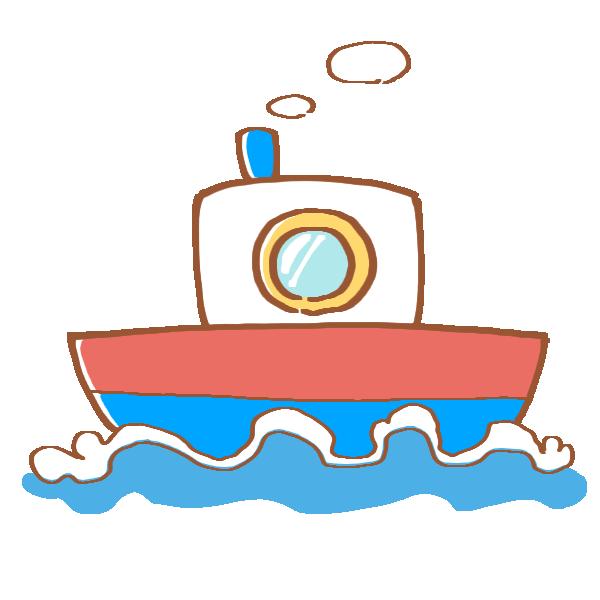 小さな船のイラスト