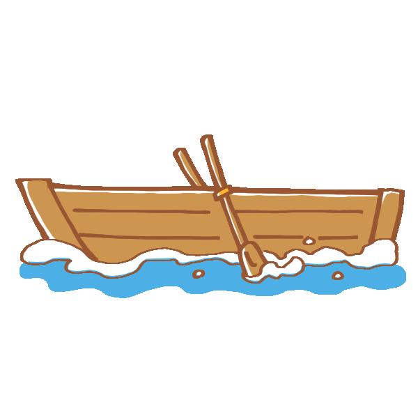 公園のボートのイラスト