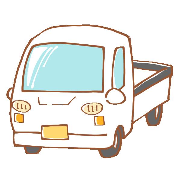 白い軽トラックのイラスト