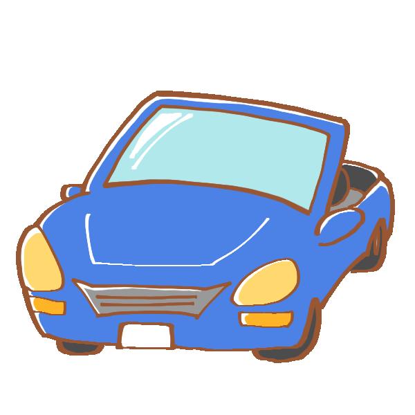 青いスポーツカーのイラスト