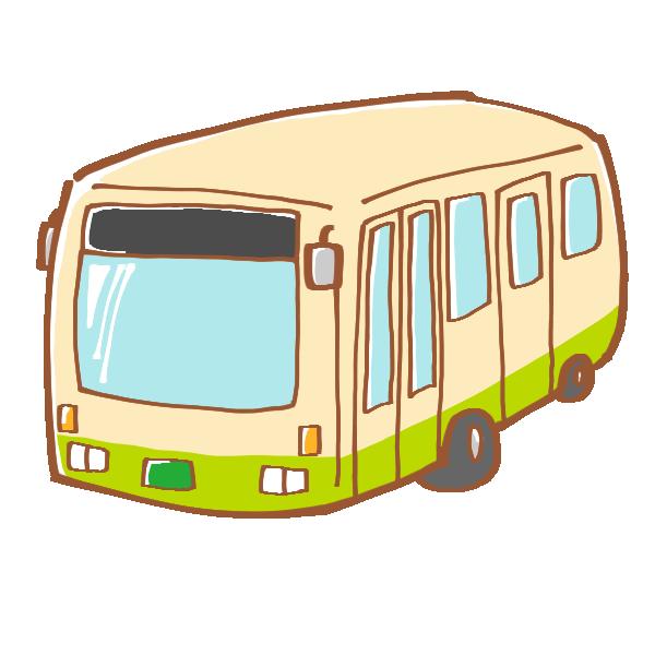 公共のバスのイラスト