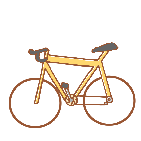 黄色いロードバイクのイラスト