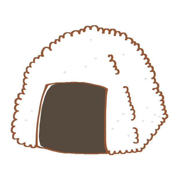 シンプルな海苔のおにぎりのイラスト