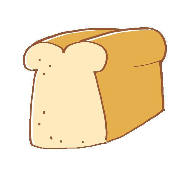 食パン一斤のイラスト