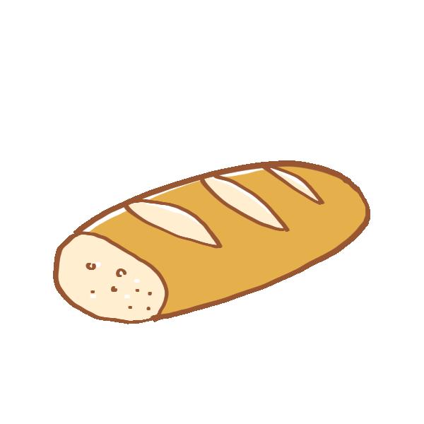 半分のフランスパンのイラスト