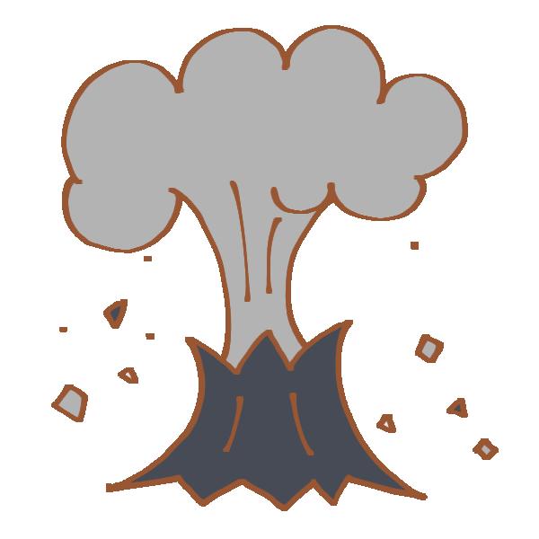 噴火のイラスト
