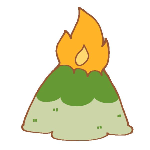 山火事のイラスト