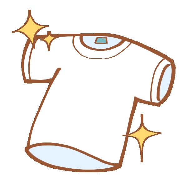 洗い上がりのTシャツのイラスト