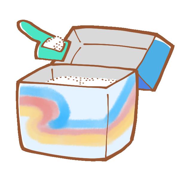 粉洗剤のイラスト