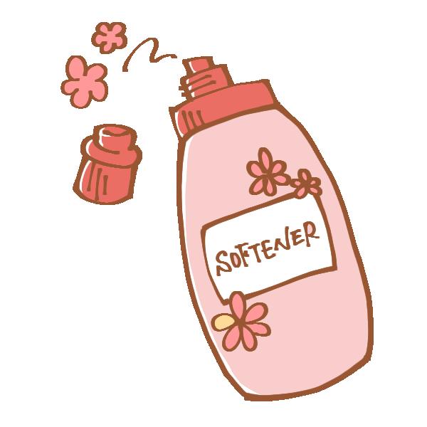 フローラルな香りの柔軟剤のイラスト