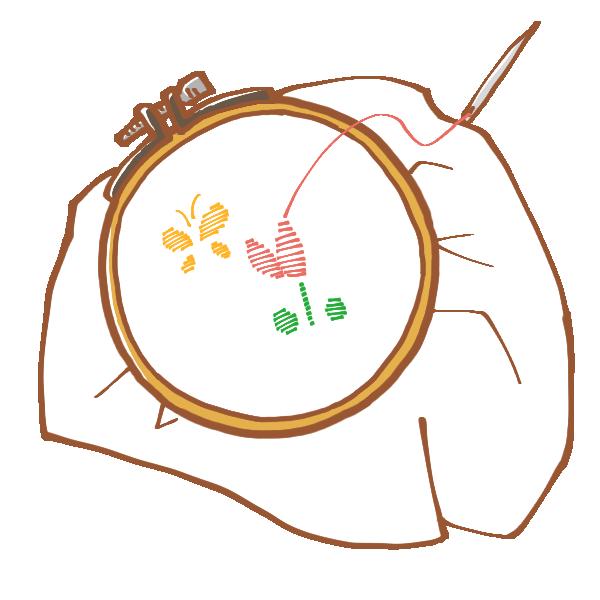 刺繍のイラスト