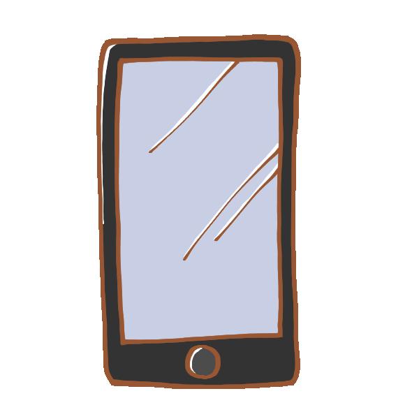 シンプルなスマートフォンのイラスト