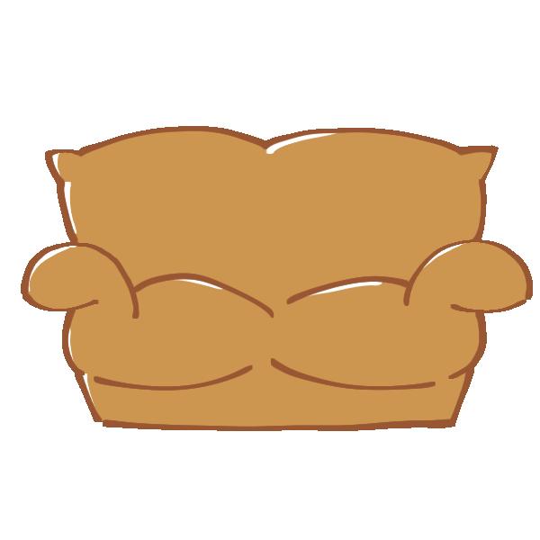 茶色のソファのイラスト
