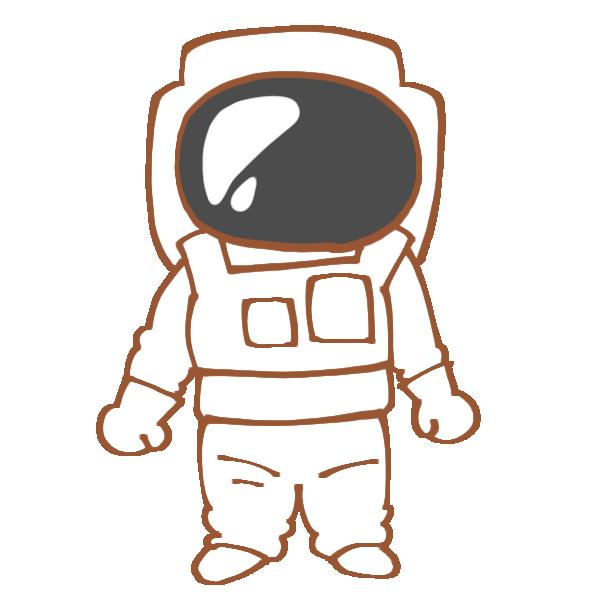 宇宙服を着た人のイラスト