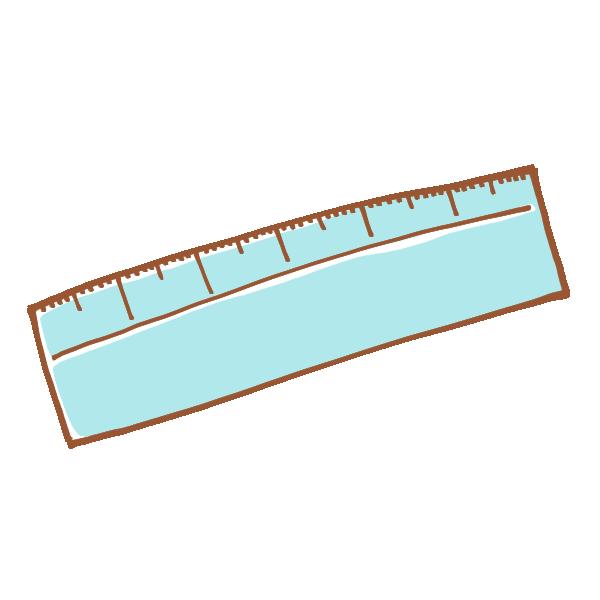 シンプルな定規のイラスト