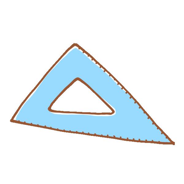 三角定規のイラスト