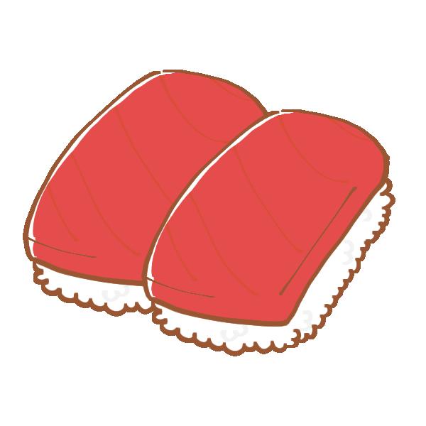 まぐろのお寿司のイラスト