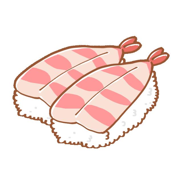 えびのお寿司のイラスト