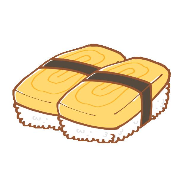 たまごのお寿司のイラスト