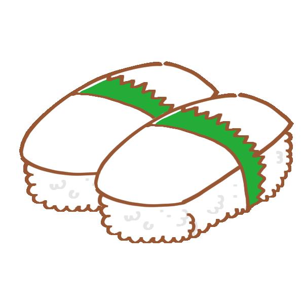 いかのお寿司のイラスト