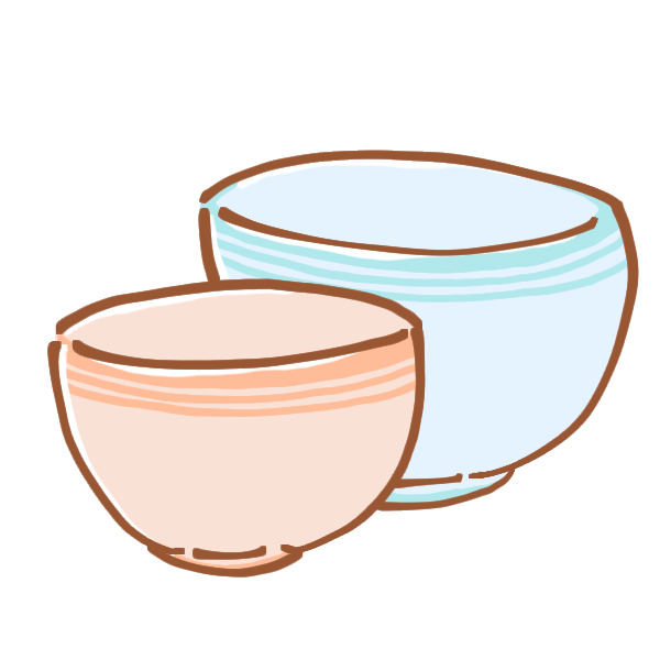 夫婦茶碗のイラスト