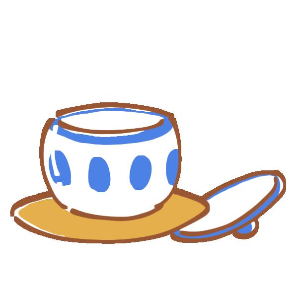 湯のみと茶托のイラスト