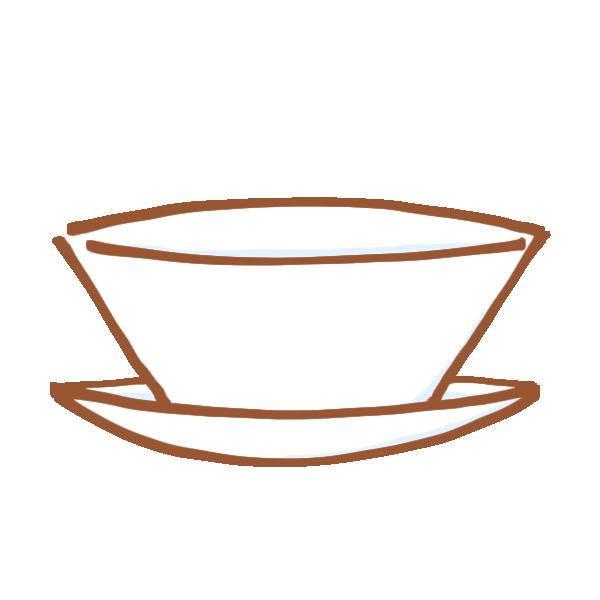 重ねた食器のイラスト