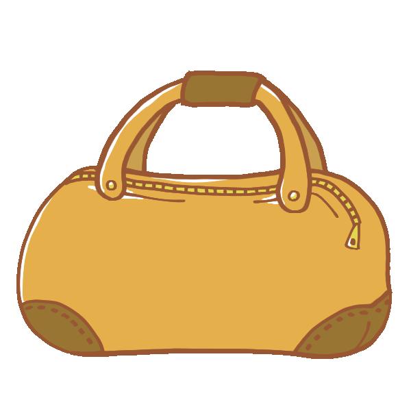 キャメルの旅行鞄のイラスト
