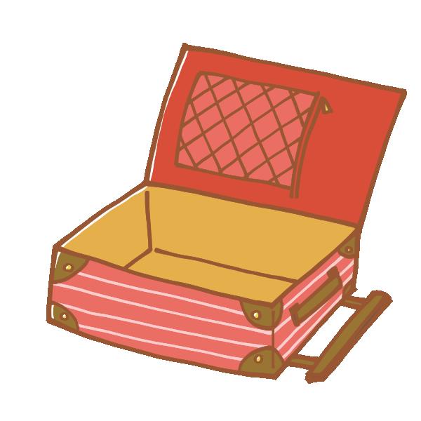 空のキャリーバッグのイラスト