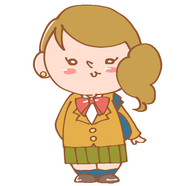 ブレザーを着た女の子のイラスト