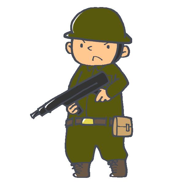 銃を持った兵士のイラスト