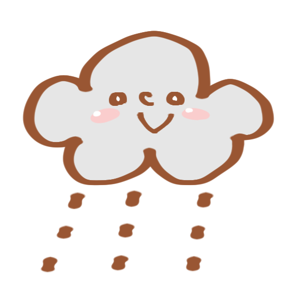 雨の日のマークのイラスト