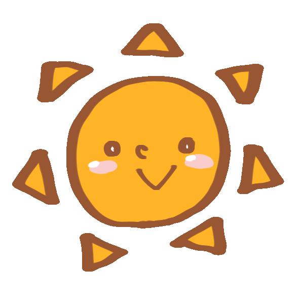 晴れの日のマークのイラスト
