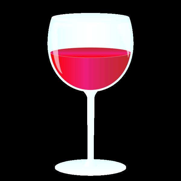 グラスで赤ワインのイラスト