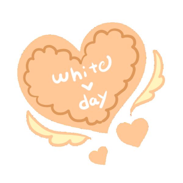 羽ハートクッキーのイラスト