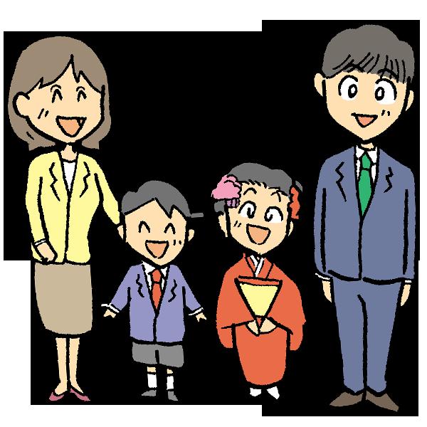 家族写真のイラスト
